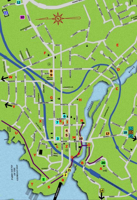Walking Map of Parry Sound